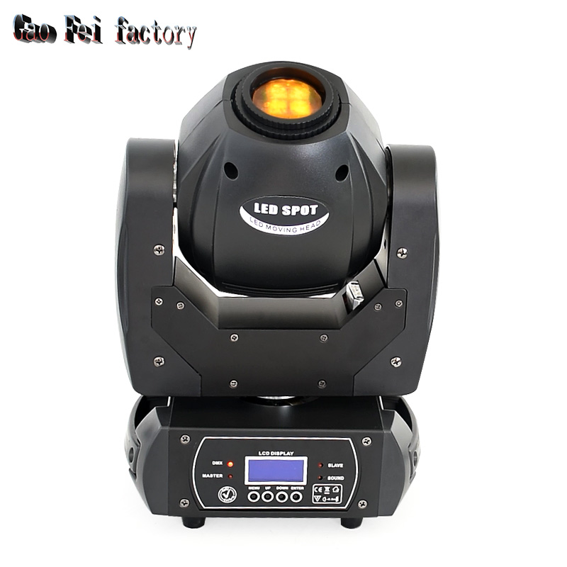 60W Led Moving Head Light Spot Pattern Rotation Gobo 3 Face Prism DJ Stage Light