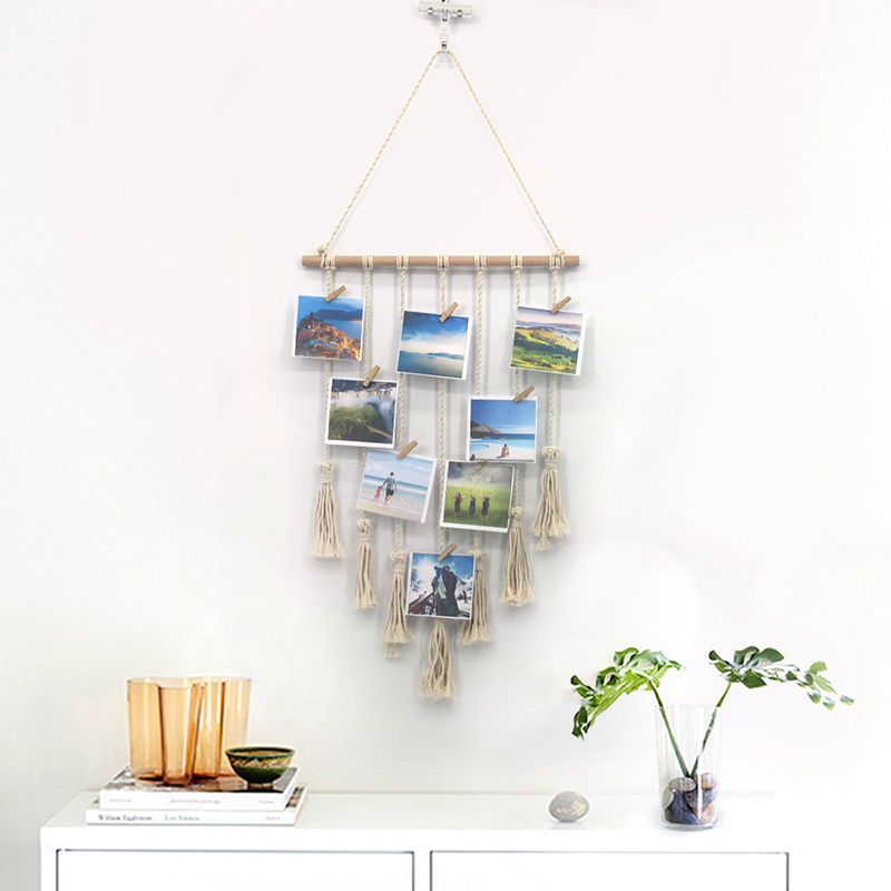 Macrame Wall Art Handmade Cotton Wall Hanging Tapestry With Lace Fabrics Bohemian Hanging Room Decoration Tapestries Home Decor