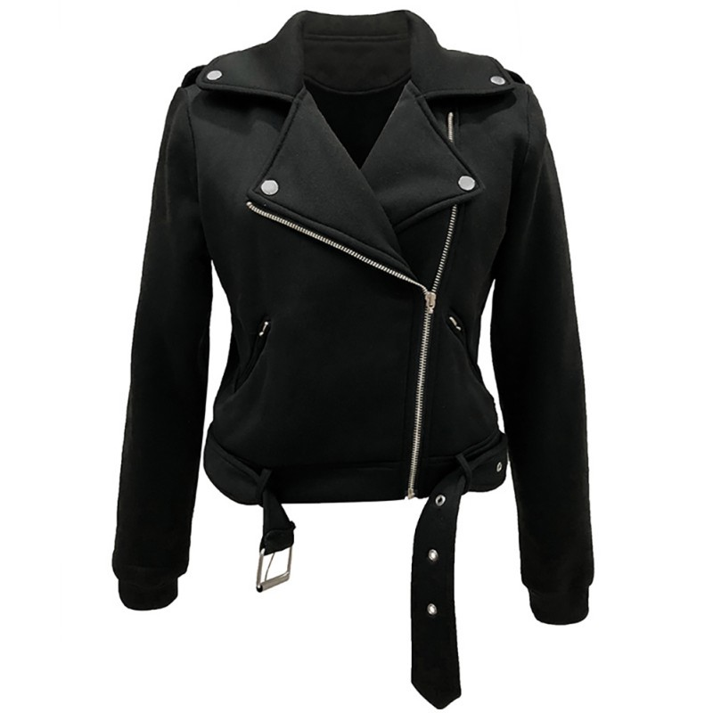 New Arrial Women Autumn Winter   Suede   Faux   Leather   Jackets Lady Fashion Matte Motorcycle Coat Biker Outwear 2019 Hot Coat