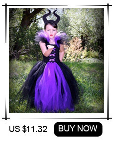 Haa3626ce6b124494bb26e225a02cf10ct Maleficent Black Gown Tutu Dress with Deluxe Horns and Wings Girls Villain Fancy Dress Kids Halloween Cosplay Witch Costume