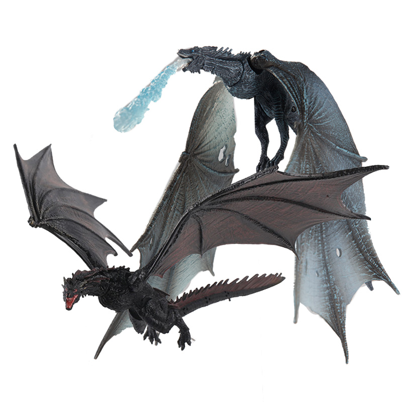 Haocaitoy 14cm Action Figure Game Ice Dragon Thrones  Drogon Viserion McFARLANE Deluxe Collection Toys Model For Kids