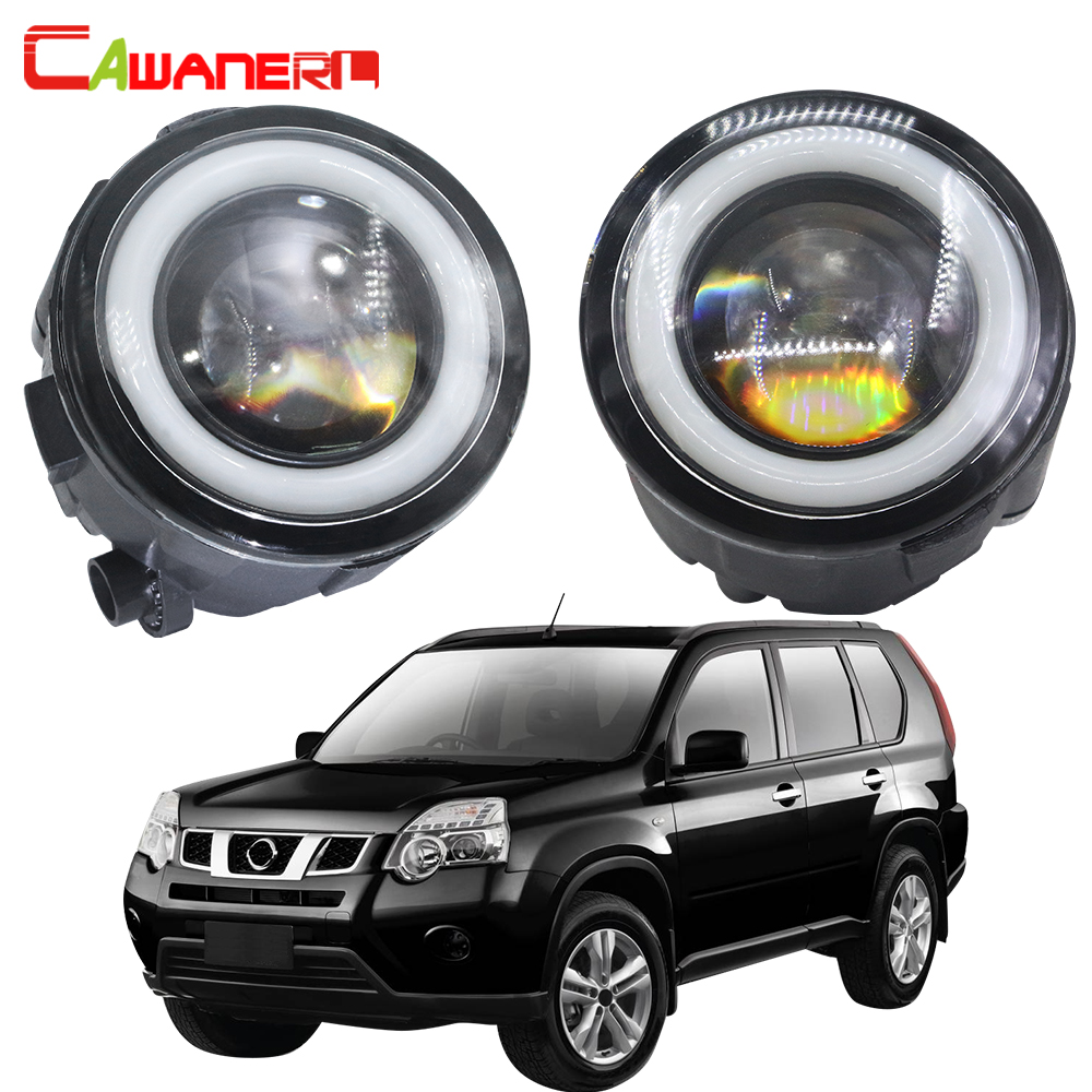 Cawanerl For <font><b>Nissan</b></font> <font><b>X</b></font>-<font><b>Trail</b></font> T31 2007 2008 2009 2010 2011 2012 2013 Car <font><b>LED</b></font> Fog Light Angel Eye Daytime Running Lamp 12V 2 Pieces image