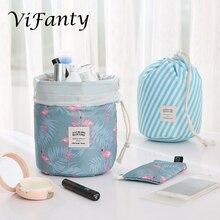 Travel Cosmetic Bags Make up Bag Organizer Men Women Hanging Toiletry Bags Wash Bags Large Capacity Drawstring Makeup Bag Blue +