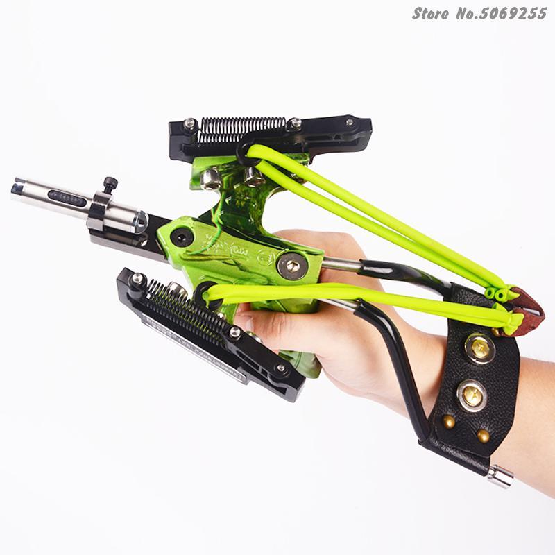 2020 poderosa catapulta conjunto completo de pesca estilingue seta laser estilingue poderosa pesca catapulta super forte estilingue caça