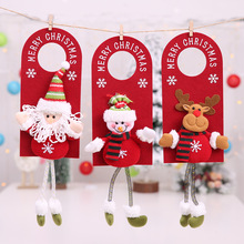 19 Innovative Christmas Flannel Santa Snowman Door Hanging Telephone Wire Pendants Party Decoration for Home Kids Gift