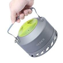 Alocs Außen Ultraleicht Aluminium Legierung Kompakte Hohe Qualität Tragbare Camping Ausrüstung Picknick Kaffee Wasser Wasserkocher 0.9L Werkzeug