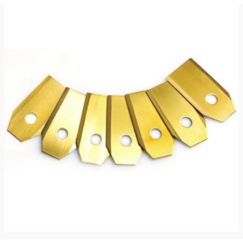 Tools : HLZS-0 75MM Titanium Coated Stainless Steel Lawn Mower Blade Replacement   Screw Parts for Husqvarna Automower 100Pcs