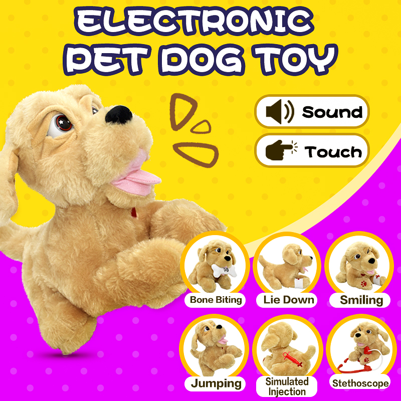 Sound Control Kids Plush Toy Sound Control Interactive Bark Electronic Toys Dog For Baby Gifts   Electronic Robot Dog