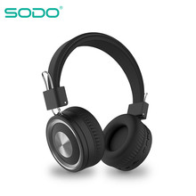 SODO SD-1002 Bluetooth Headphone On-Ear Wired Wireless Headphones Foldable Bluetooth 5 0 Stereo Headset with Mic Support TF Card cheap Balanced Armature CN(Origin) Wireless+Wired 120dBdB 0 3mm User Manual Charging Cable up to 32 Ω Memory Foam 40mm 32ΩΩ