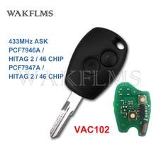 PCF7946A / PCF7947A VAC102 مفتاح السيارة عن بعد فوب لرينو كليو III كليو 3 مودوس كانغو 2006 2007 2008 2009 2010 2011 2012
