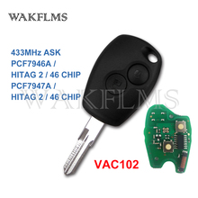 PCF7946A / PCF7947A VAC102 Remote Car Key Fob for Renault Clio III Clio 3 Modus Kangoo 2006 2007 2008 2009 2010 2011 2012