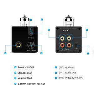 Image 4 - SMSL SP100 Tube Headphone Amplifier 6N3 Tube Powerful Hi End Stereo Amp Audio HiFi Output volume control