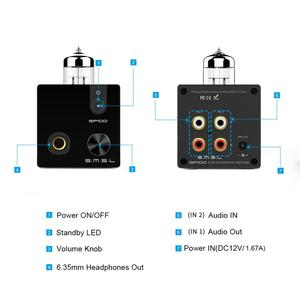 Image 4 - SMSL SP100 Ống Tai Nghe Khuếch Đại 6N3 Ống Mạnh Hi End Stereo Amp Âm Thanh HIFI âm lượng Đầu Ra điều khiển