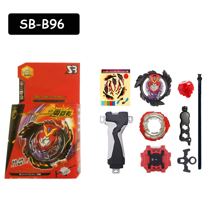 Beyblades Burst SB B96 Metal Fusion Gyroscope Alloy Spining With Ruler Launcher Toys For Children