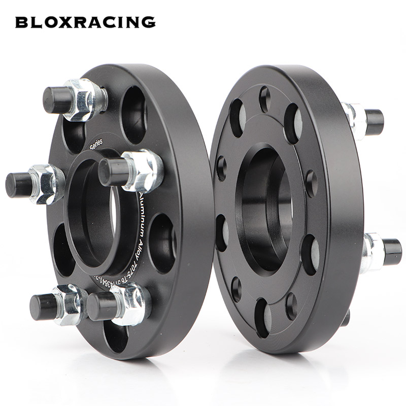 2PCS 15/20mm 7075 aluminum forged <font><b>wheel</b></font> <font><b>spacers</b></font> adapters set PCD <font><b>5x114.3</b></font> CB = 64.1mm ID = OD, suitable for HONDA CR-V, CRZ,CIVIC image
