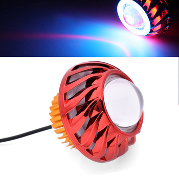 1PC Motorcycle Led Headlight Round Angel Eyes Spot Light Fog Lamp For Yamaha XT1200Z SUPER TENERE YZF R120 R1 R3 R25 R6 600R image