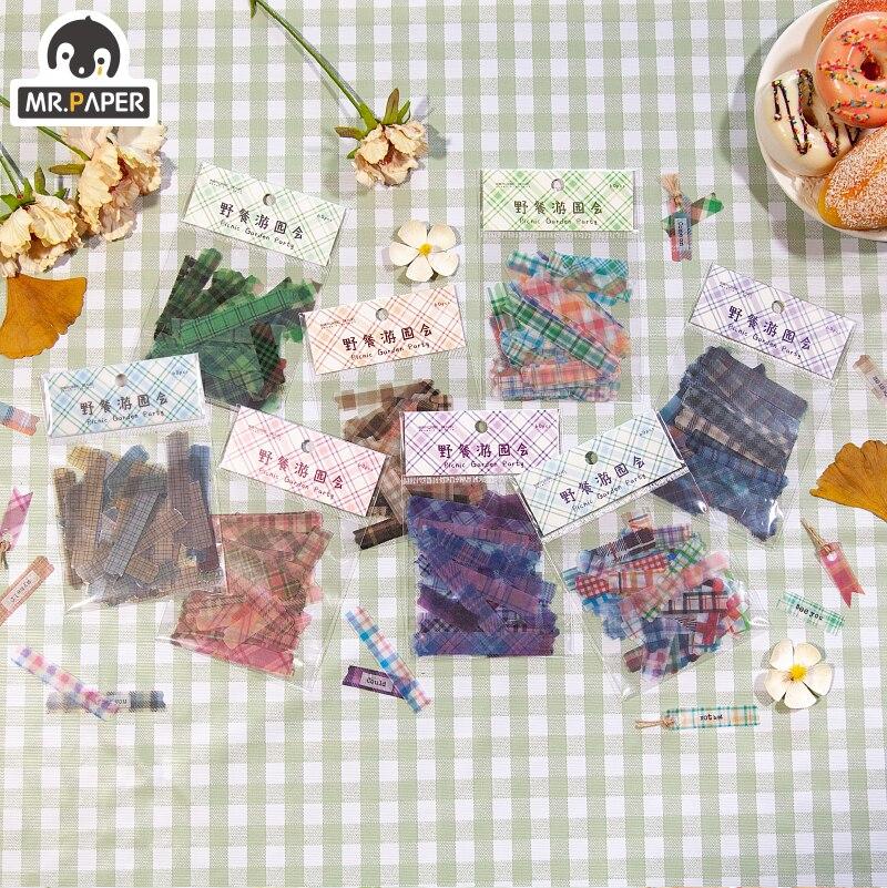 Mr.paper 8 Designs Garden Party Tatan Girlish Deco Stickers Scrapbooking Bullet Journal Toy Deco Alb