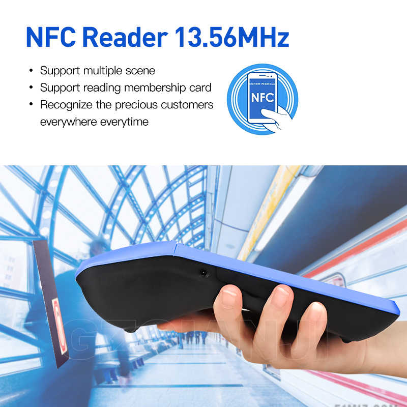POS Android 6.0 PDA Cầm Tay Pos Nhà Ga PDA 3G NFC Wifi Với Camera Máy In Hóa Đơn 58 Mm Cho Di Động đặt Hàng Trên Thị Trường