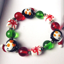 Jewelry Bracelet Penguin-Accessories Glass Gifts Custom Christmas-Party Murano Mini Friends
