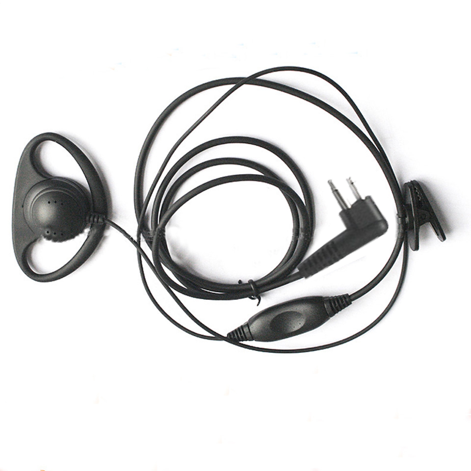 Walkie Talkie D shape Headset Earpiece Ear Hook Earphone Two Way Radio Headset M Type Earphone For Motorola HYT FEIDAXIN-FDC