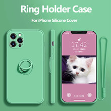 Capa para iphone 12 11 pro max xr xs max 7 8 plus mini se 2020 caso com anel titular capa de silicone para iphone 12 pro max caso