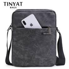 TINYAT borse da uomo borsa a tracolla in tela leggera per 7.9 'ipad borse a tracolla Casual borsa a tracolla impermeabile per uomo