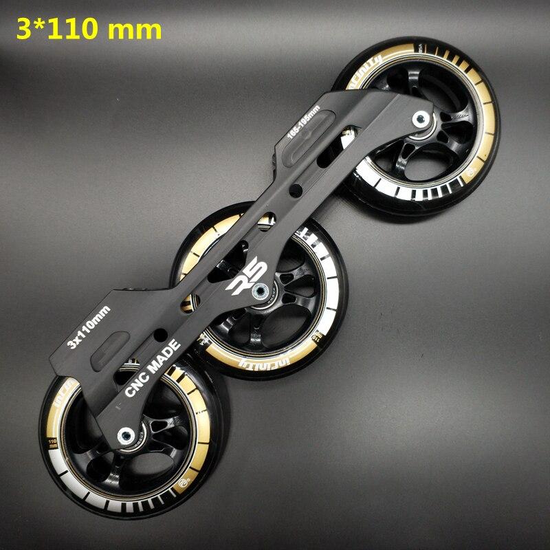 Free Shipping Speed Skate Frame 3*110 Including Wheels Bearing Abec-9