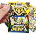 7x10 см мешки замка застежка-молнии мультфильм Травы Сумки 3,5 грамм Подгонянные напечатанные мешки с Windows хранить табак оптом
