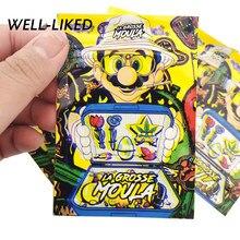 7x10 cm zip lock malotes dos desenhos animados sacos de erva daninha 3.5 gramas personalizado impresso sacos com windows armazenar tabaco atacado