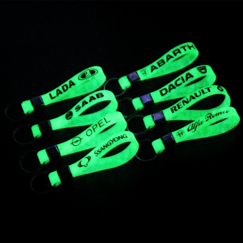 Car Styling Luminous Silicone Key Ring Sticker For Nissan Qashqai J11 Juke X-trail T32 Tiida Note Almera Primera Pathfinder Tean