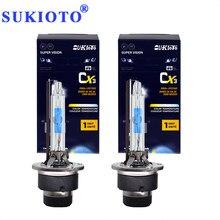 SUKIOTO 2PCS New OEM 35W 55W D2S D4S Xenon HID Lamp Bulbs 5500K Super Fast Bright Car Headlight D2 D4 Auto Replacement Bulb