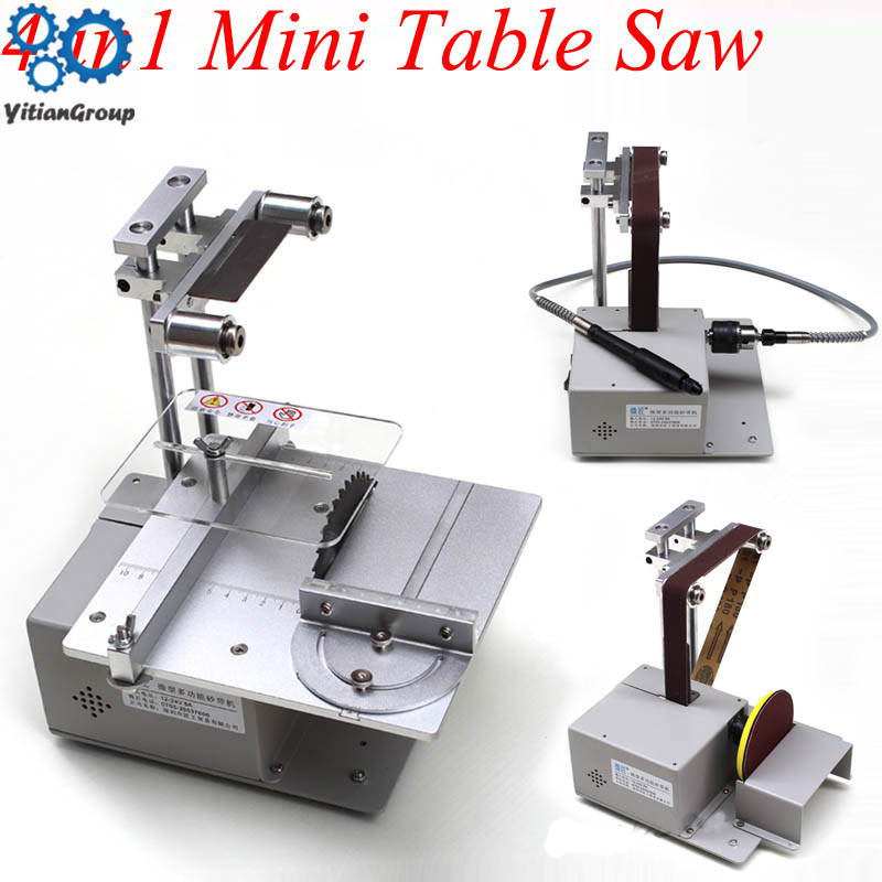 Table Saw Micro Chainsaw Multi-function Mini Cutting Machine DIY Woodworking Saws Precision Desktop Cutter Carpentry Saw