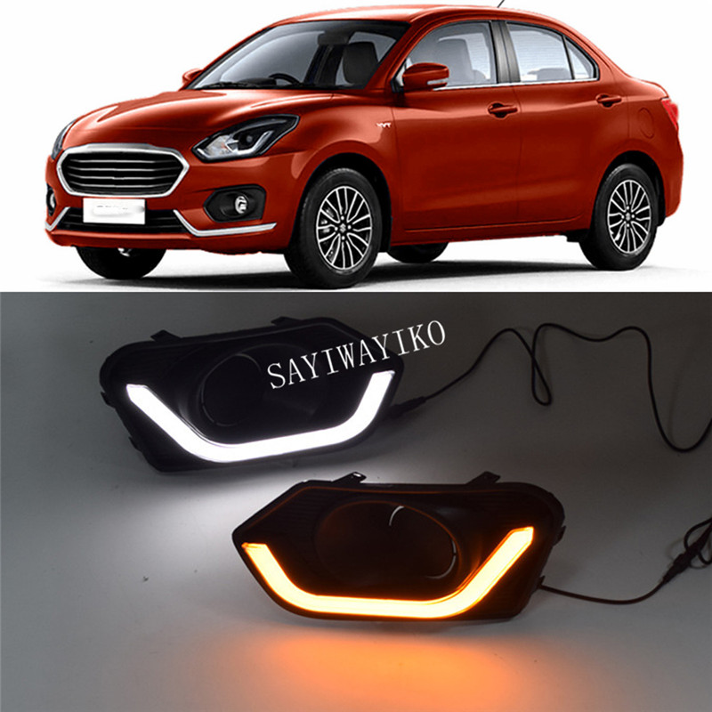 July King LED Daytime Running Lights DRL-S-Swift-2018 For Swift 2018 2019 LED DRL Yellow Turn Signals Light