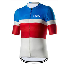 LECOL Cycling Jersey Clothing Bicycle Mtb Bike Downhill Breathable Quick Dry Shirt Men Short Sleeve 2021 Pro Team Summer