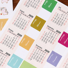 New Year 2019 2020 Monthly Calendar Sticker Diary Planner Notebook Scrapbook Decorative Stickers Accessory DIY Statinery