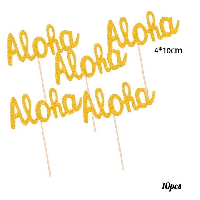 10pcs Aloha