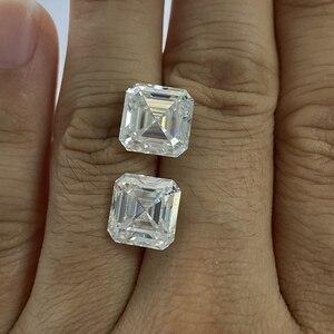 Moissanite cultivée GRA certificat diamant 8*8mm Asscher coupe blanc Moissanite pierre Moissanite en vrac diamant 2.37 pour bague