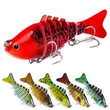 6 colors 10cm lure plastic hard bait 15.5g with packaging 7 knots fish bionic bait