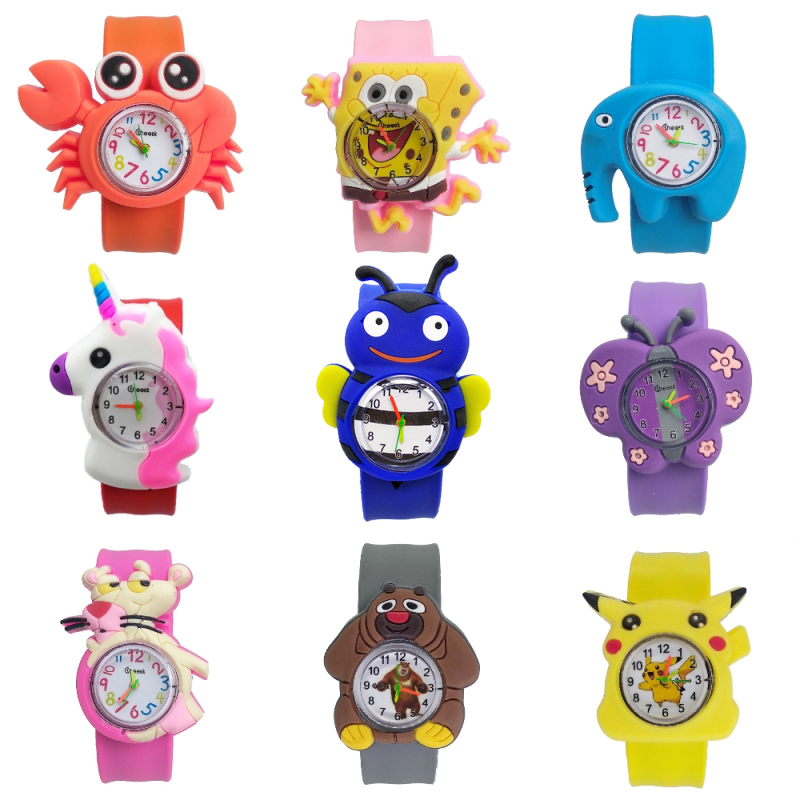 1pcs/lot Free Shipping Boys Watches For Kids Gift Girls Watch For Children Students Clock Pony Animal Team Child Bracelet Watch