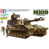 Tamiya 37013 Tank Model Building Kits 1/35 Scale M109 155mm Self propelled Howitzere Assembly Toys For Kids Children Adults