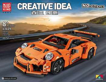 Creative Idea MOC Technic Series The GT3 Speed Racing Car Set Building Blocks Bricks Model Kit Fit Lepining Toys For Children technic series speed koenigseggs racing car model kit building blocks toys for children compatible lepining 23002 bricks gifts