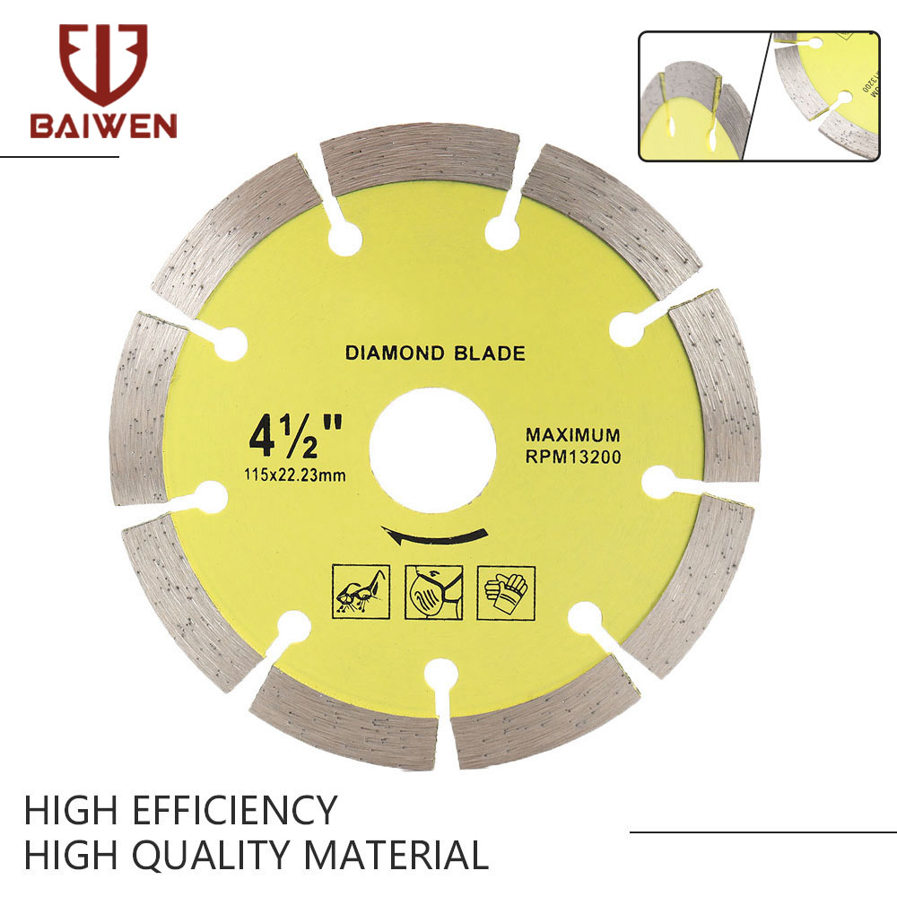 105mm/115mm/125mm/180mm/230mm Diamond Segment Saw Blade Cutting Disc Wet/Dry Circular Cutting Wheel For Cutting Tiles Stone Tool