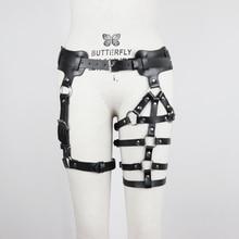 UYEE Ladies Leather Harness Body Belt Sexy Garter Bondage Punk Waist Leg Belts Adjustable Suspender Straps For Women 2020 LP-037