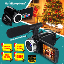Professional 1080P HD Camcorder Video Camera Night Vision 3.0 Inch HD Touch Scre