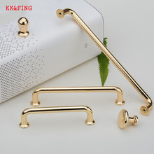 цена на KK&FING Minimalist Cabinet Knobs Handles European Rose Gold Drawer Wardrobe Door Kitchen Handle Furniture Hardware  Door Knob