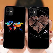 World Map Travel Just Go Soft Phone Cases for iPhones 11 Pro Max 2019 plane silicone Cover For iPhones 6s 7 8 Plus XR XS Max X(China)