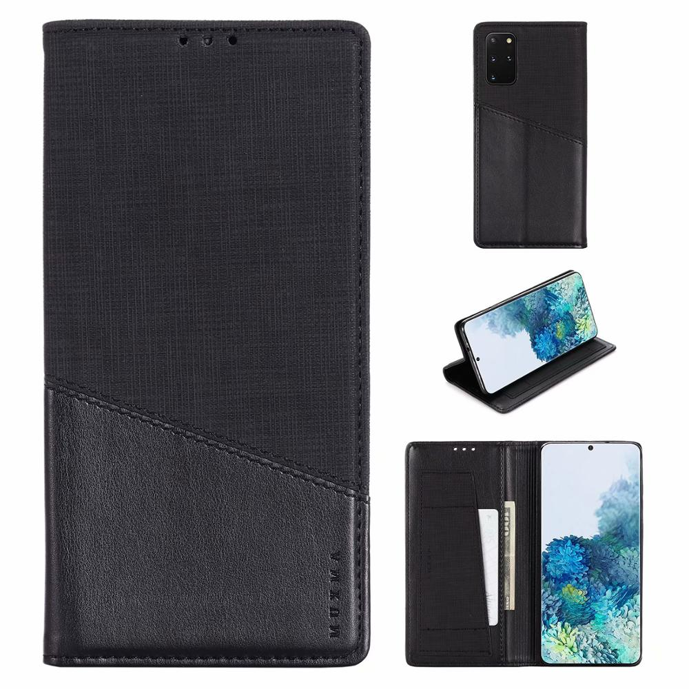 New MUXMA Folio Premium <font><b>Leather</b></font> <font><b>Wallet</b></font> Card Slot <font><b>Case</b></font> For <font><b>Samsung</b></font> <font><b>Galaxy</b></font> S20 + S20 Ultra AA51 A71 <font><b>A50s</b></font> <font><b>Stand</b></font> Phone Magnetic image