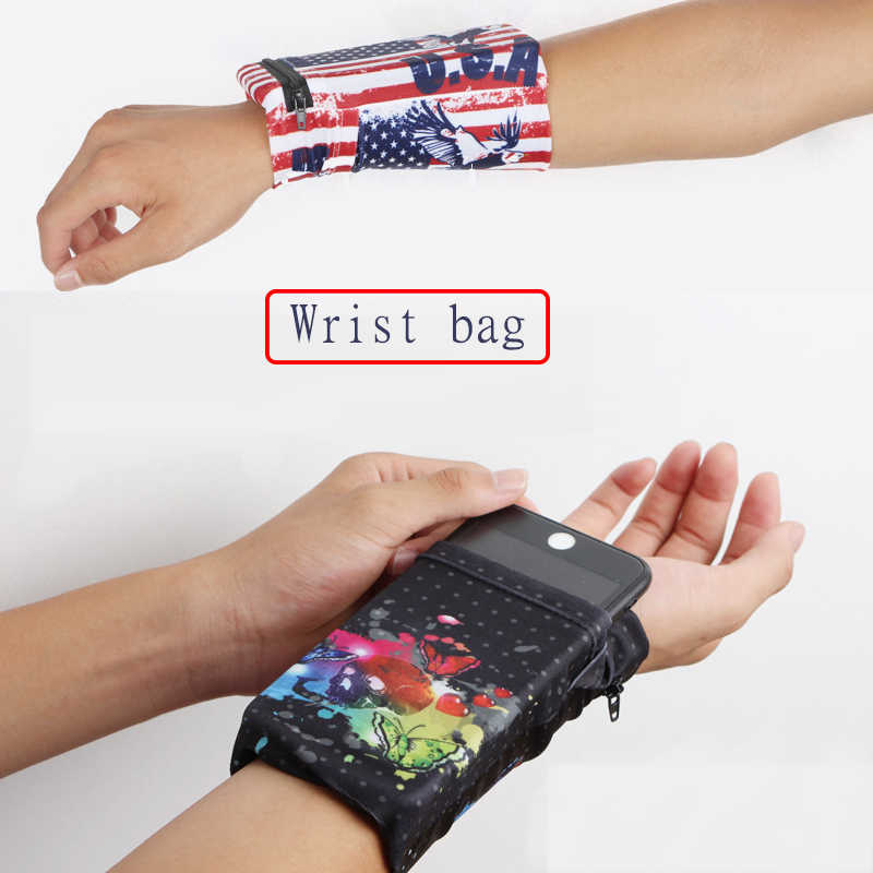 New explosion models elastic mobile phone armband with wristband suitable for running cycling fitness various sports