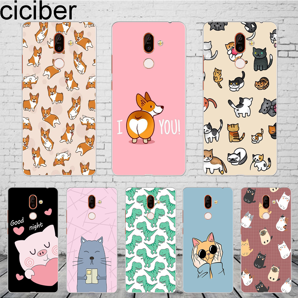 ciciber Cat <font><b>Dog</b></font> Corgi Cover For <font><b>Nokia</b></font> 8 8.1 7 7.1 6 6.1 5 5.1 <font><b>3</b></font> <font><b>3</b></font>.1 2 2.1 1 Plus 9 PureView Phone <font><b>Case</b></font> For <font><b>Nokia</b></font> X7 X6 X5 X3 TPU image