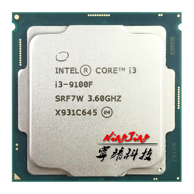 Intel Quad-Core CPU I3 9100f 1151 Processorlga 65W Ghz 6M Srf7w/srf6n